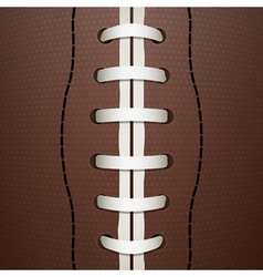 american football closeup vector image