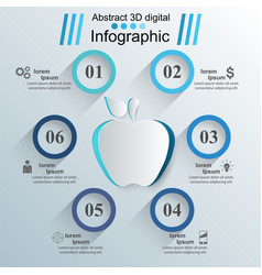 apple icon abstract 3d digital vector image