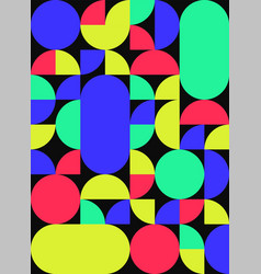 Background abstract geometric flat design style vector