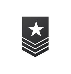 Badge military icon army chevron with star stock vector
