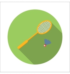 Badminton flat icon vector
