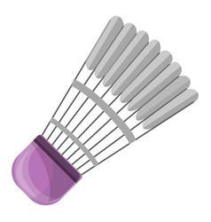 badminton shuttlecock icon cartoon style vector image