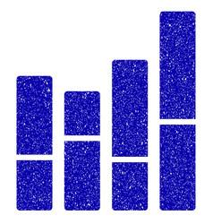 bar chart icon grunge watermark vector image