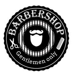 barber shop vintage retro logo vector image