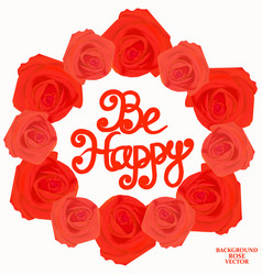 be happy background vector image