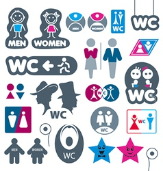 Biggest collection of labels toilet vector