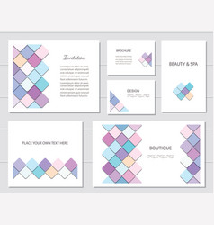 brochures flyers and business card templates set vector image