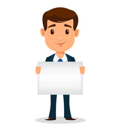 Business man cartoon character in smart clothes vector