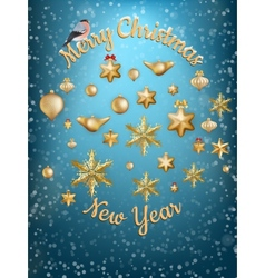 Christmas blue light background EPS 10 vector
