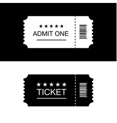 Cinema ticket black and white background vector
