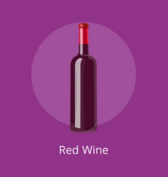 closeup of red wine icon on vector image