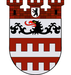 Coat of arms of steglitz in berlin germany vector
