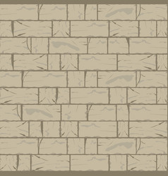 Cracked brick wall background in hazel wood brown vector
