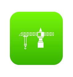 crane icon digital green vector image