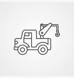 crane icon sign symbol vector image