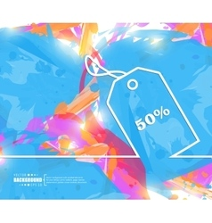 Creative tag discounted Art vector