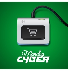 Cyber Monday button on keyboard vector