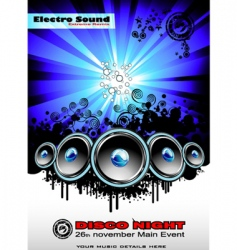 disco music event background vector image