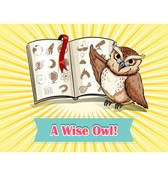 English saying a wise owl vector