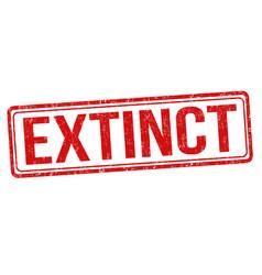 Extinct grunge rubber stamp vector