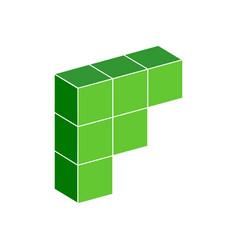 f logo symbol vector image