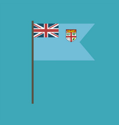 fiji flag icon in flat design vector image
