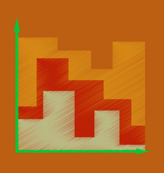 flat shading style icon 3d chart vector image