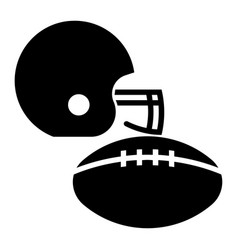glyph beautiful rugby equipment icon vector image