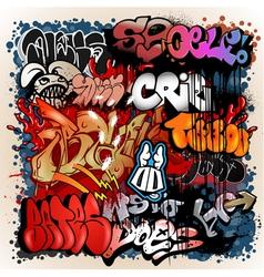 graffiti street art background vector image