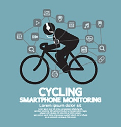 Health And Fitness Smartphone Monitoring vector image vector image
