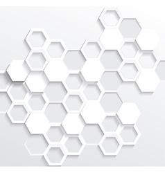 Hexagonal abstract 3d background vector