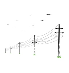 high voltage power lines vector image