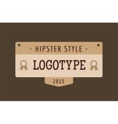 Hipster modern thin style logo vector