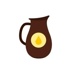 Honey crock flat icon vector