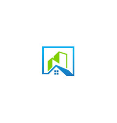 House building realty company logo vector