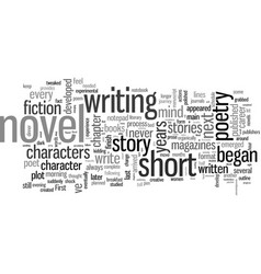 How to write your first novel vector
