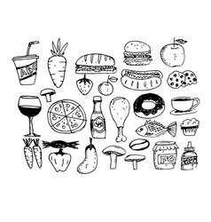 icon food hand draw vector image