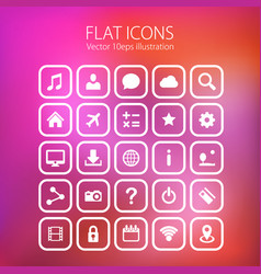 Icon set art technology file vector