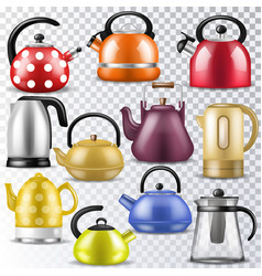 kettle teakettle or teapot to drink tea on vector image