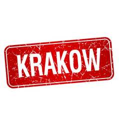 Krakow red stamp isolated on white background vector