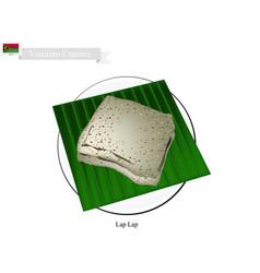 Lap lap a national dish of vanuatu vector