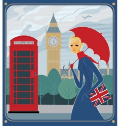 London scene vector image vector image