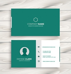 minimal business card template vector image