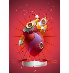 Music heart vector