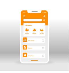 Orange economy ui ux gui screen for mobile apps vector