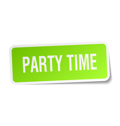 party time square sticker on white vector image
