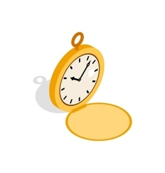 Pocket watch icon isometric 3d style vector