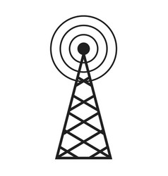 Radio antenna sending signal icon wireless vector