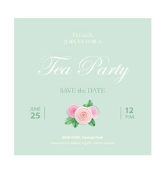 save date invitation card wedding template vector image