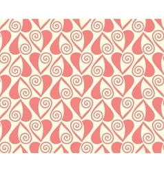Seamless pattern with stylized hearts Romantic vector image vector image